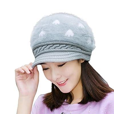 Usstore Women's lady hat Trendy Winter Keep Warm Braided Baggy Beanie Knit Crochet Hat Slouch Ski Cap