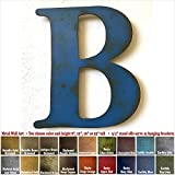 Metal Letter B – 8″, 12″, 16″ or 22″ inch tall – Handmade metal wall art – Choose your Patina Color, Size and Letter or Number