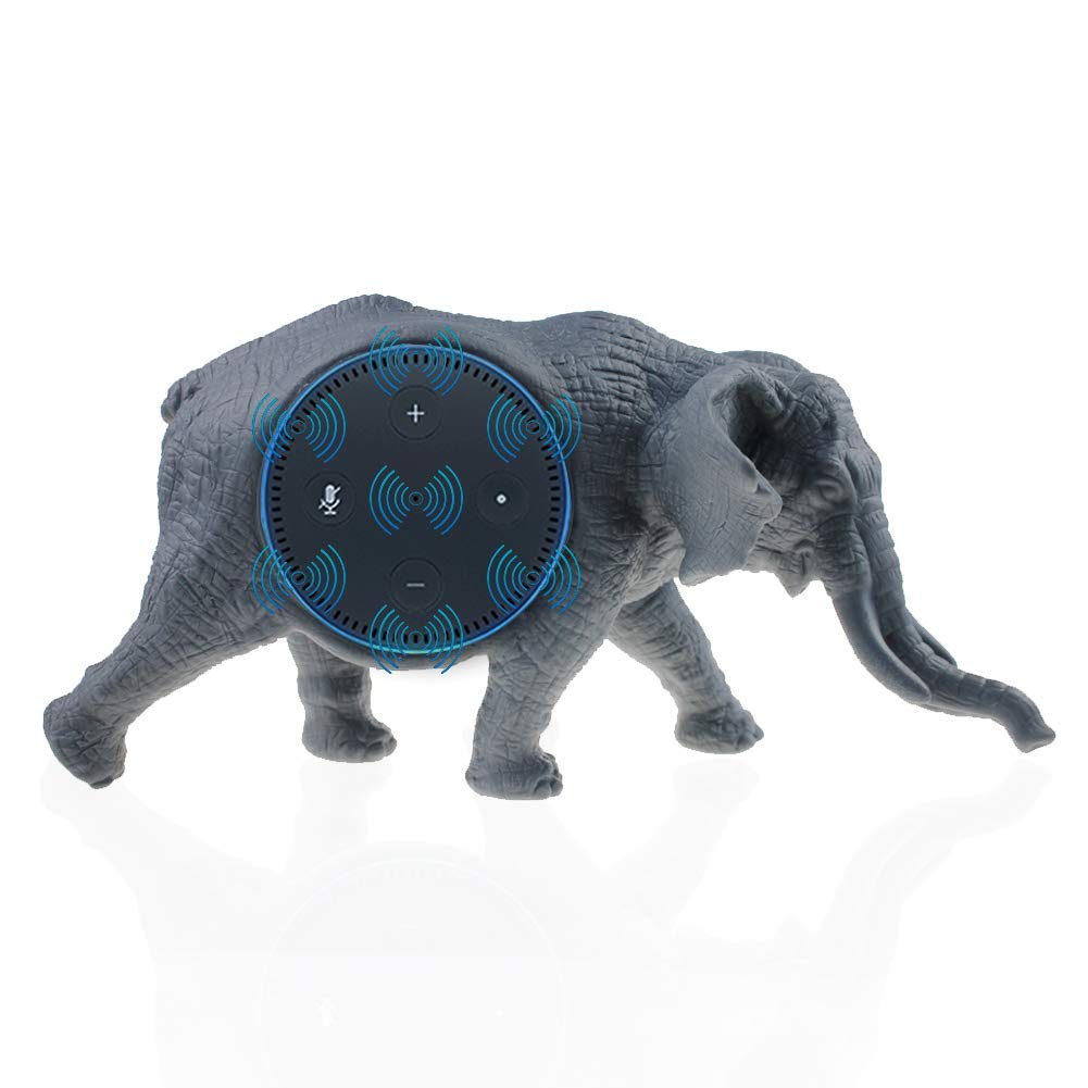 Budesi Elephant Shape Decoration Speaker Stand Mount Table Holder Mounting Base Case BFF for Alexa Compatible with Amazon Echo Dot 2nd and 1st Generation Speaker