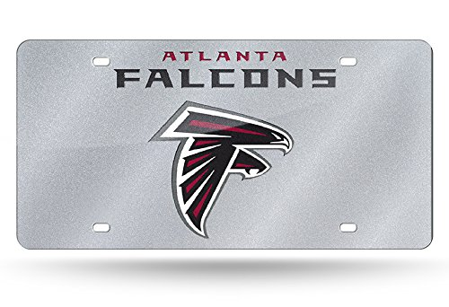 - NFL Atlanta Falcons Bling Laser Cut Auto Tag Plate, 12 x 6-Inch, Silver