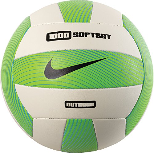 Nike Women's 1000 Softset Outdoor Volleyball Inflated w/Box Electric Green/White/Gamma Blue Size One Size