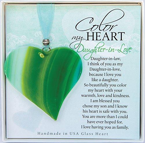 The Grandparent Gift Daughter in Law Gift: Sentimental Handmade Glass Heart