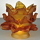 Meyda Tiffany 14581 Tier Glass Replacement Lamp Shade - Amber
