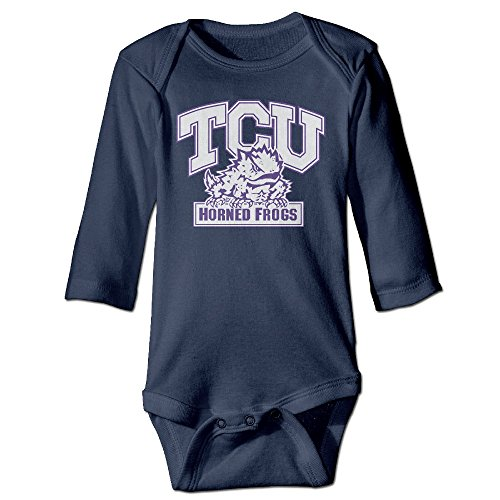Price comparison product image JJVAT Texas Christian University Long-Sleeve Outfits For 6-24 Months Infant Size 6 M Navy