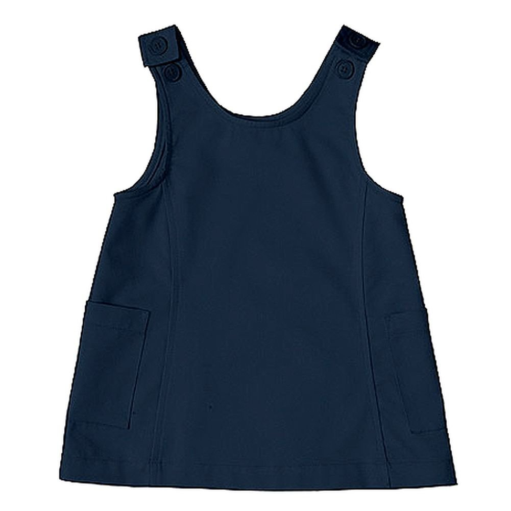 Classroom Little Girls' Preschool Princess Seam Jumper Dark Blue