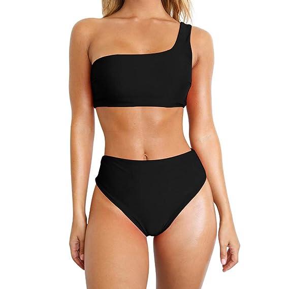 TSWRK Bikini para Mujer Conjunto Traje de Baño de Dos Piezas Traje ...