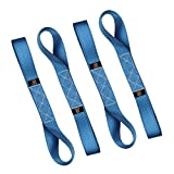 """Loop Straps Tie Down Straps Murpow Polyester Fibre Ratchet Strap Motorcycle Soft Loop Straps 1.7"""" x 17"""" 10,000lbs Breaking Strength 4pk(Blue)"""