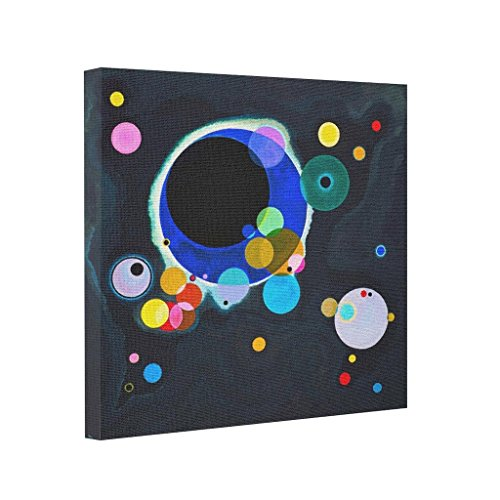 Funny ship Canvas Prints Sale Kandinsky Circles Pre Stretched Canvas Kandinsky Paintings Stretched Canvas (Several Circles Kandinsky)