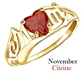 Mothers Day Gift Simulated Citrine Mom Heart Ring - Best Reviews Guide
