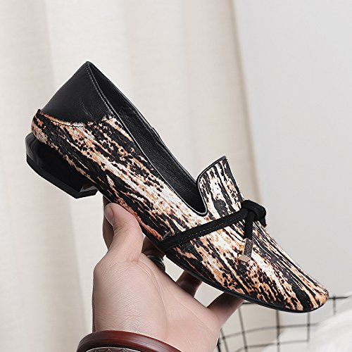 KPHY-frühling Schuhe Haare weiblichen Kopf Bogen Bogen Bogen sehnen Schuhe lässig Faulenzer Mode Schuhe e4ebf4