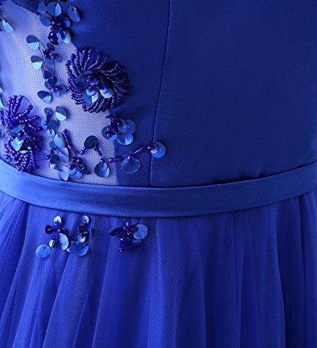 KekeHouse® Une ligne Femmes Tulle Satin Courroie de Spaghetti Mariage Robe de demoiselle d'honneur Longue Maxi Robe de soiré