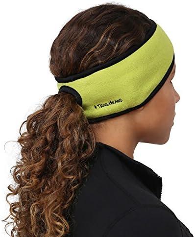 Stirnband 2-er Set Kopfband Damen Sport Headband mit Pferdeschwanz Loch Winter Ohrenw/ärmer Laufstirnband Sportstirnb/änder f/ür Pptimalen Ohrenschutz Joggen Laufen Wandern Fahrrad und Motorrad Fahren
