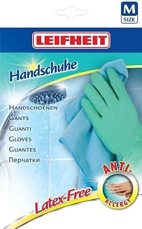 Leifheit 40038 anti-alergia libre de látex guantes de hilo de algodón: Amazon.es: Hogar