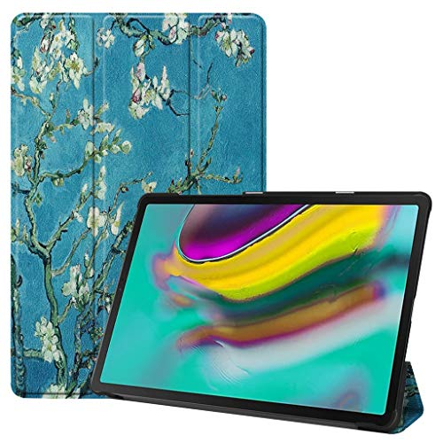 (Samsung Case, LtrottedJ For Samsung Galaxy Tab S5e 10.5 2019 T720 T725 Smart Magnetic Leather Case Cover (E))