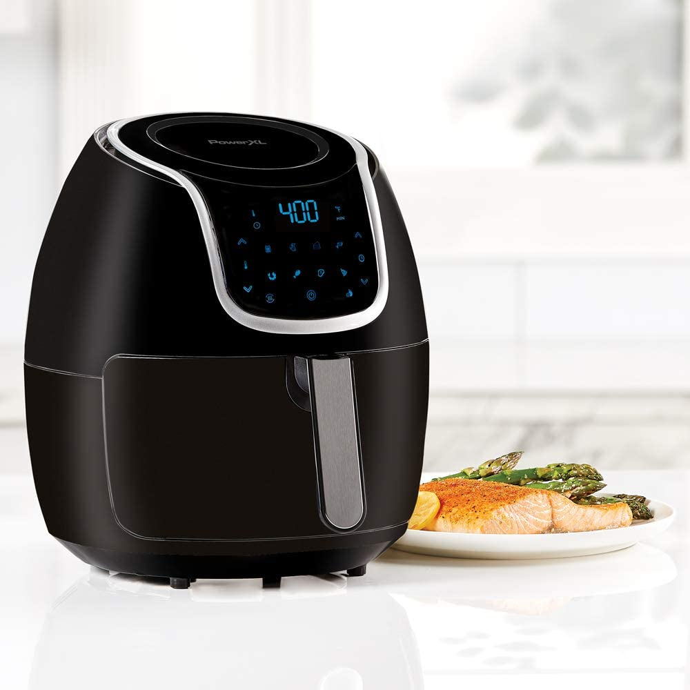 PowerXL Air Fryer Vortex - with a cooked dish