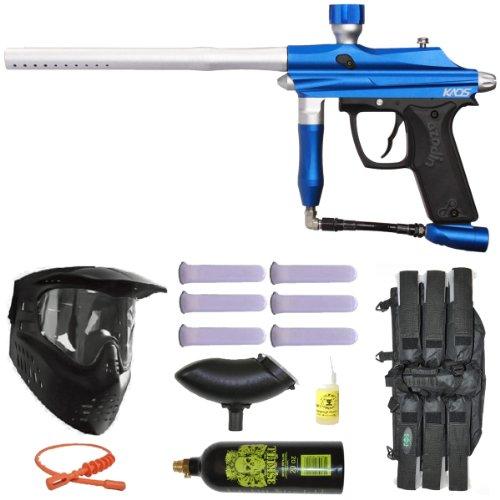 Azodin Kaos Paintball Marker Gun 3Skull Mega Set - Blue/Silver