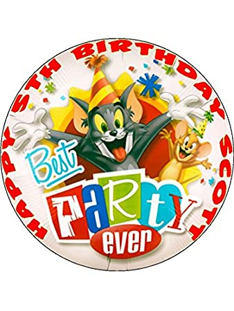 75 Tom and Jerry Edible Icing Birthday Cake Topper Amazoncouk