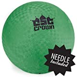 8.5 Inch Official Size Dodge Ball with Textured Grip by Crown Sporting Goods