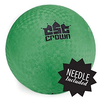 8.5-inch Official Size Dodge Ball with Textured Grip - Playground Balls for Kickball, Foursquare - by Crown Sporting Goods