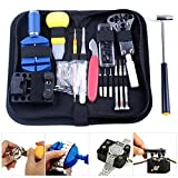 Watch Repair Kit KSANA 147 Pcs Portable Watch Repair Tools Professional Watchmaker Case Opener Link Remover Spring Bar Set Carry Bag (Black)