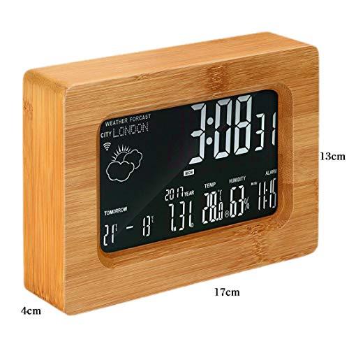 BOJOK - Estación meteorológica inalámbrica con Despertador para ...