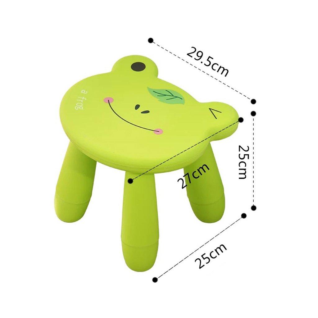 Duzhengzhou Footstool - Children's Stools Living Room Adult Plastic Cartoon Animals Cute Small Bench (Color : Frog) by Duzhengzhou (Image #2)