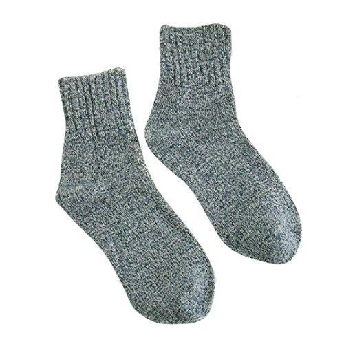 AutumnFall Womens Cashmere Wool Thick Warm Socks Winter Fashion Socks (Navy) (Cashmere Trousers Wool)