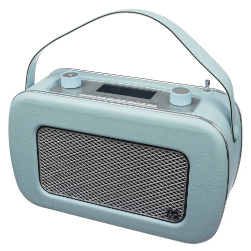 KitSound Jive Retro Portable DAB Radio with Dual Alarm Clock and Carry Handle - Blue