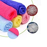 Maca.lina Bathroom Nylon Towel,Exfoliating Shower Body Cleaning,Not Hurt Skin (Blue)