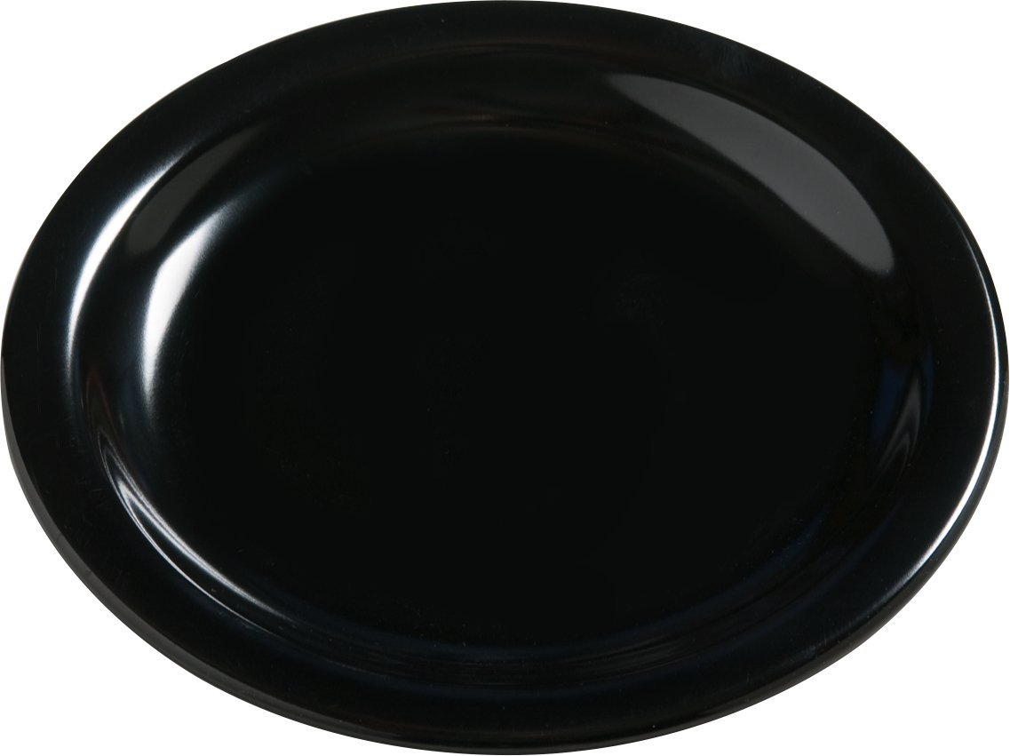 Carlisle 4385603 Dayton Melamine Bread & Butter Plates, 5.5'', Black (Set of 48)