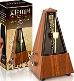 Tempi Metronome for Musicians ( Plastic Mahogany Grain Veneer )