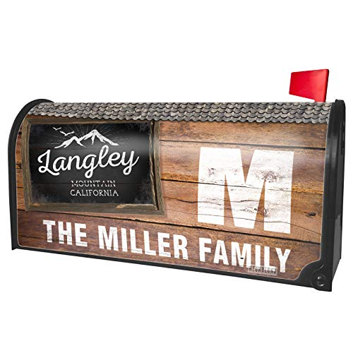 NEONBLOND Custom Mailbox Cover Mountains Chalkboard Langley Mountain - California