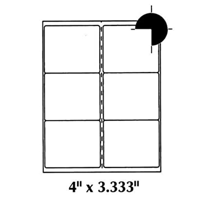 amazon com 4x3 33 shipping labels 6 labels per page 600
