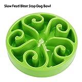 Homdox New Slow Feed Bloat Stop Dog Bowl Fun Feeder Slow Feed Bowl Green