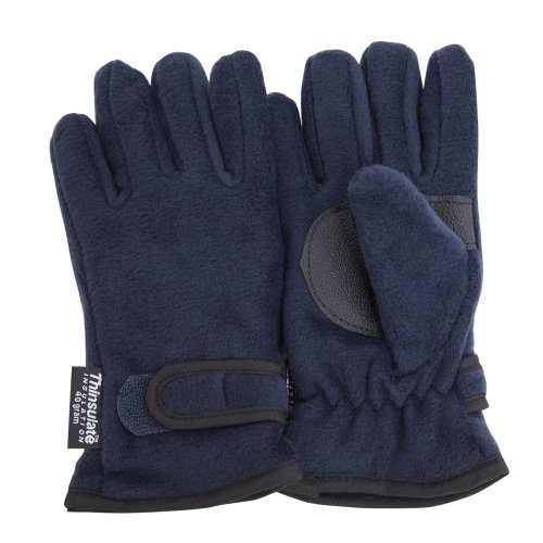 FLOSO® Childrens/Kids Big Boys Thermal Thinsulate Fleece Gloves with Palm Grip