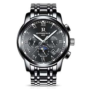 94d7d71b8947 RORIOS Luxury Hombres Automático Mecánico Relojes de Pulsera Roman ...