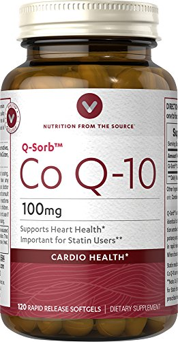 Vitamin World Q-Sorb COQ-10 Supplement, 120 Count by Vitamin World