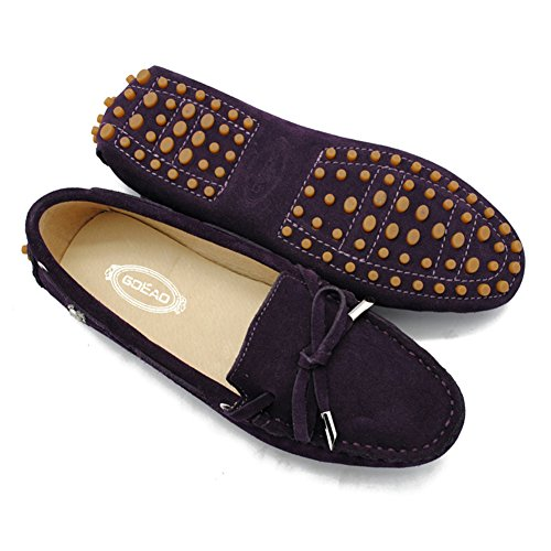 Leather Up Boat Shoes Multi Colored Dark Casual TDA Lace Purple Hiking outdoor Womens w8YEUzq0x
