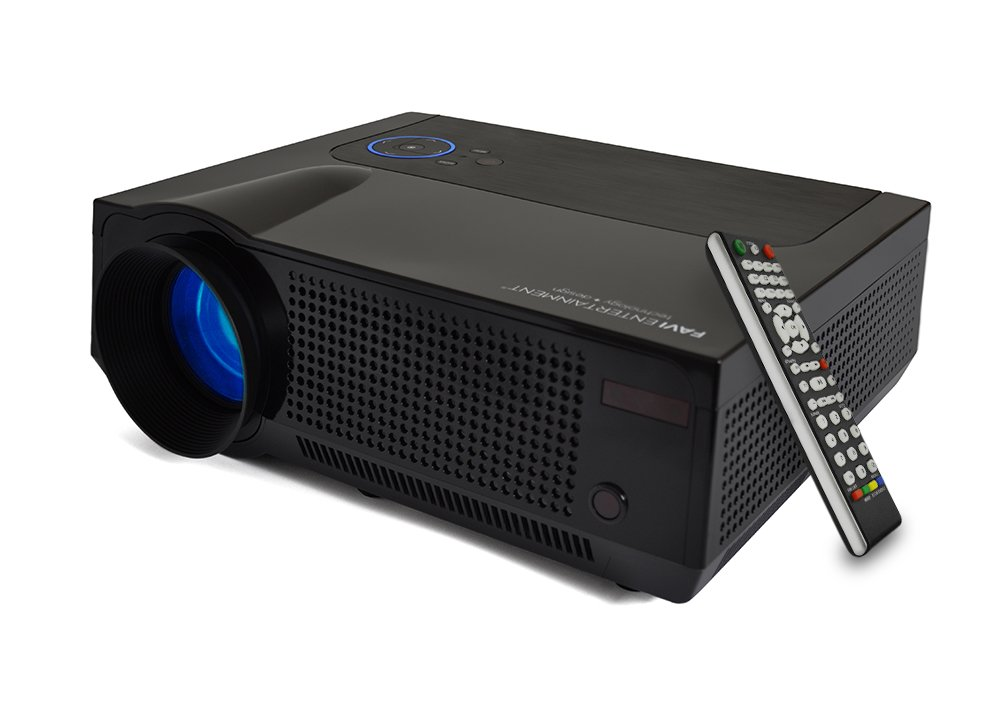 FAVI 4T Ultra-Bright LED LCD (HD 720p) Home Theater Projector - US Version (Includes Warranty) - Black (RIOHDLED4T-US4) by FAVI