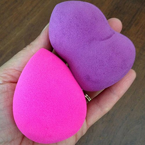 Pro-Beauty-Sponge-Blender-1-pc-Pink-Teardrop-Set-Makeup-Sponges-for-Foundation-Blending-Stippling-Highlighting-and-Contouring-Flawless-Applicator-for-Liquid-Creams-and-Powders-Latex-Free