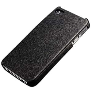 Genuine Leather Patrón de nuevo caso de Lichee de la contraportada para iPhone 5 Opción: Rojo
