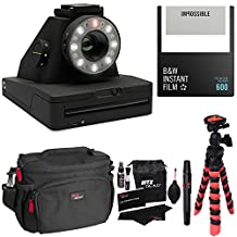 Impossible Project I-1 Analog Instant Camera, With Impossible PRD4516 Polaroid 600 and Instant Lab Black and White Film, Ritz Gear Deluxe DSLR Camera Bag, Flexi Tripod and Cleaning Kit