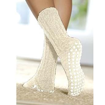 FootSmart Treaded 100% Wool Slipper Socks