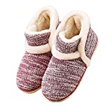 Winter Vintage Boot Slippers Arctic Solid Indoor Rubber Red 8 B(M) US