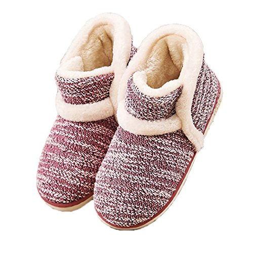 GaraTia Winter Vintage Boot Womens Slippers Arctic Solid Indoor Outdoor House Shoes