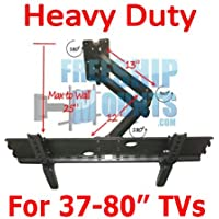 Full Motion Tv Wall Mount for Screen Sizes 37 42 46 50 52 55 60 65 70 Single Stud Mount Great for Corners (Model IMPLB1)