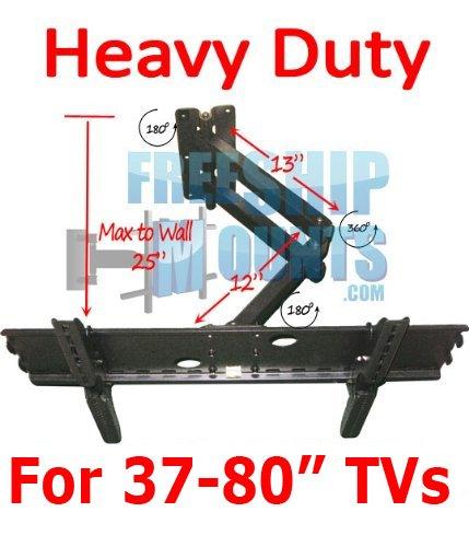 Full Motion Tv Wall Mount for Screen Sizes 37 42 46 50 52 55
