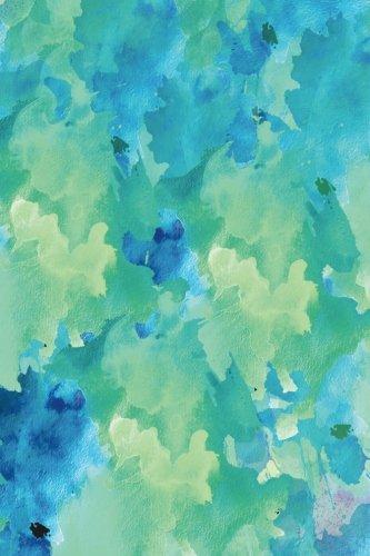 Design Sketchbook - Sketchbook: Blue Green Watercolor 6x9 - BLANK JOURNAL NO LINES - unlined, unruled pages (Patterns & Designs Sketchbook Series)
