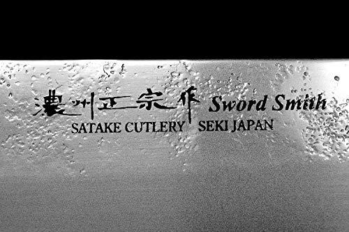 Seki Japan MASAMUNE, Japanese Vegetable Kitchen Knife, Nashiji Stain Finish Stainless Steel Nakiri Knife, Shiraki Handle, 6.3 inch (160mm) by product of gifu japan (Image #5)