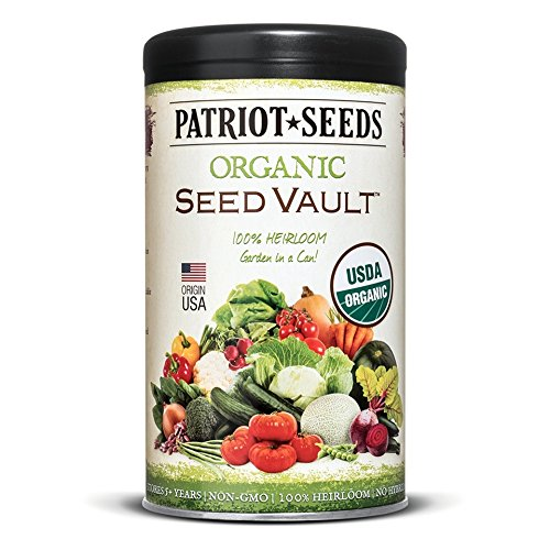 Patriot Seeds Organic Seed Vault Survival Kit - Non-GMO - 100% Heirloom (1) (Seed Vault)